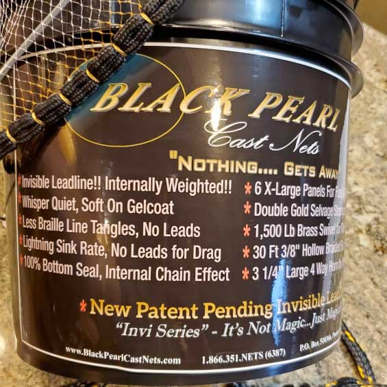 Cast Nets Bucket Picture of Black Pearl Invi Series - Buy Now